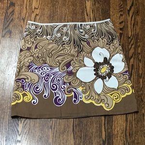 Tahari Floral mini skirt
